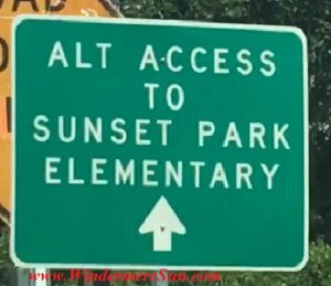 Street sign for Alternate access2 (credit: Windermere Sun-Susan Sun Nunamaker)