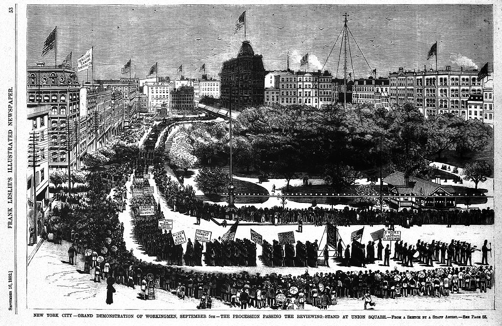 Labor Day-First_United_States_Labor_Day_Parade,_September_5,_1882_in_New_York_City, PD