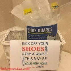 Deb Schroeder's Shoe Guard Basket (credit: Windermere Sun-Susan Sun Nunamaker)