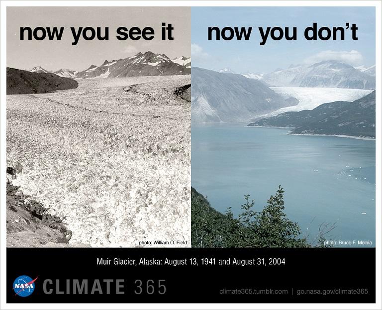 Muir Glacier, Alaska (credit: NASA)