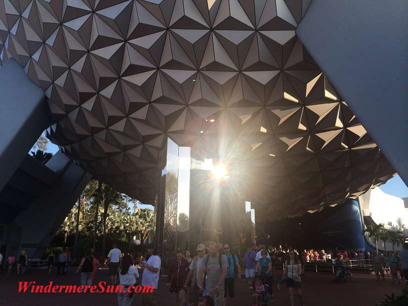 Sunshine Through Globe of Epcot (credit: Susan Sun Nunamaker)