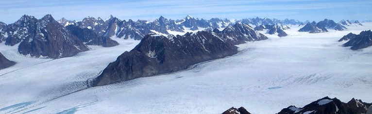 Thawed area under Greenland ice sheet (credit: NASA)