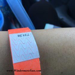 Bracelet ticket (credit: Windermere Sun-Susan Sun Nunamaker)