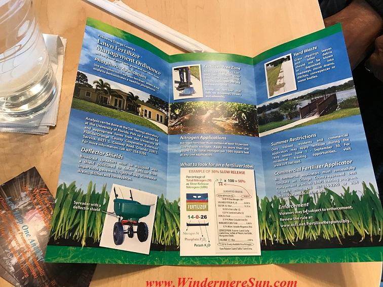 Orange County's Lawn Fertilizer brochure final