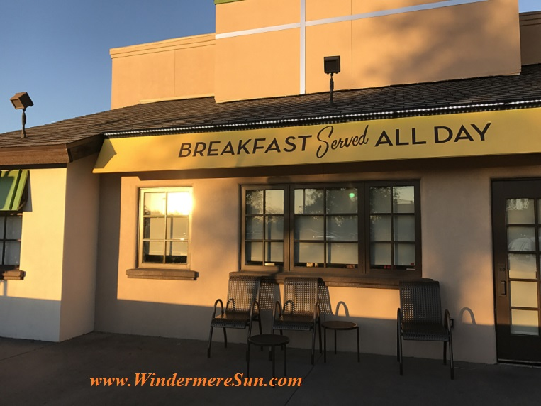 Breakfast served all day a Village Inn of Winter Garden