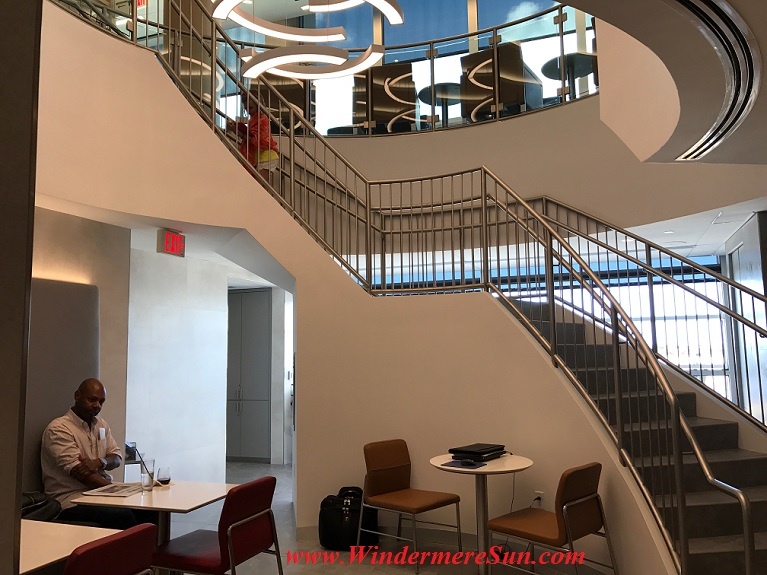 American Airline Admirals Club staircase final