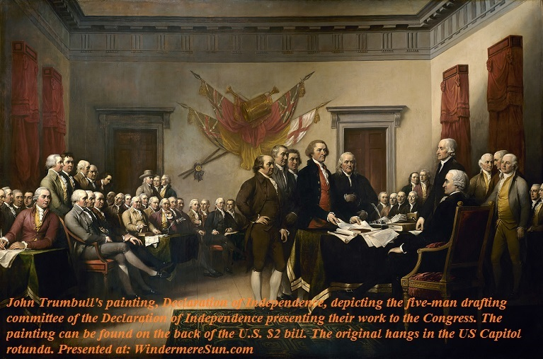 John Trumbull's depiction of the signing of the Declaration final