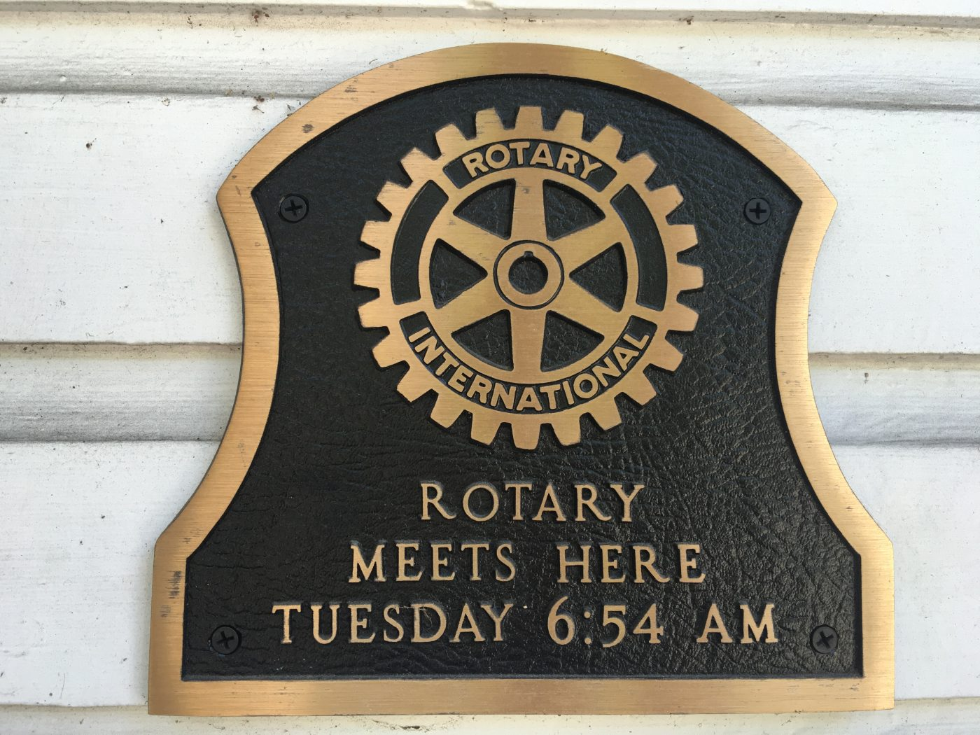 Windermere Rotary Plaque