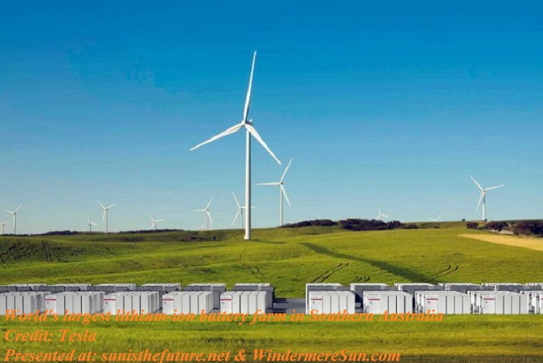 South Australia biggest lithium ion battery farm final