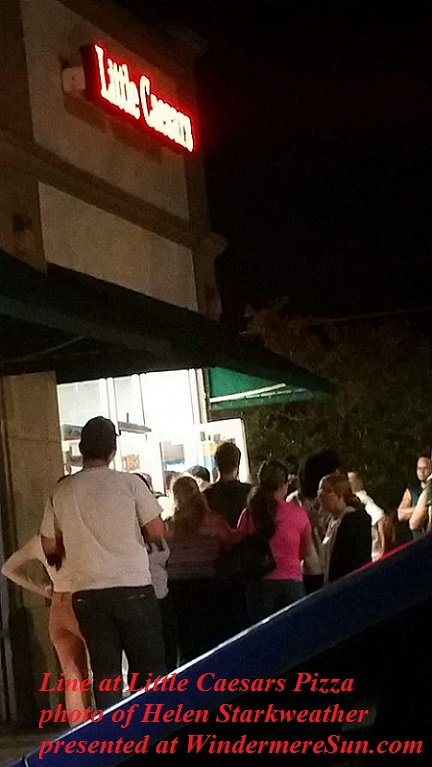 Line at Little Ceasars, photo by Helen Starkweather final