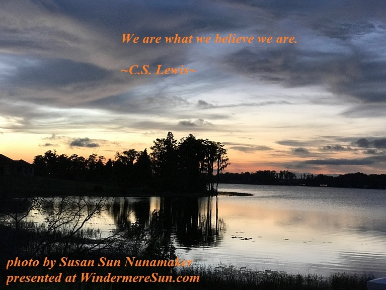 we are what we believe we are, quote-09-30-2017, beautiful sunset-1 final