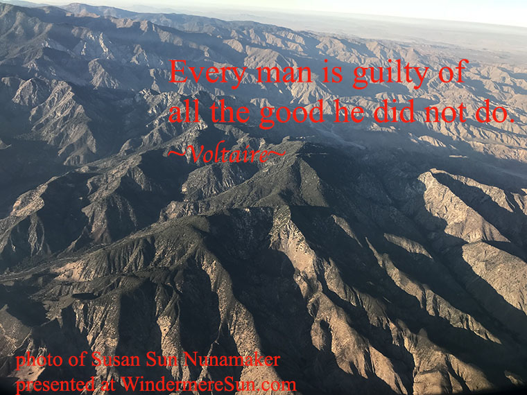 Quote-10-14-2017-Every man is guilty of...-Mountain tops, quote of Voltaire, photo of Susan Sun Nunamaker final