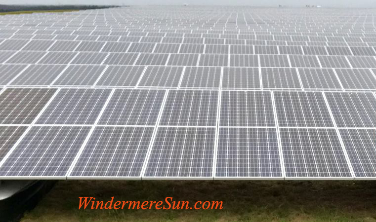 Solar panels of OUC Kenneth P. Ksionek Solar Farm