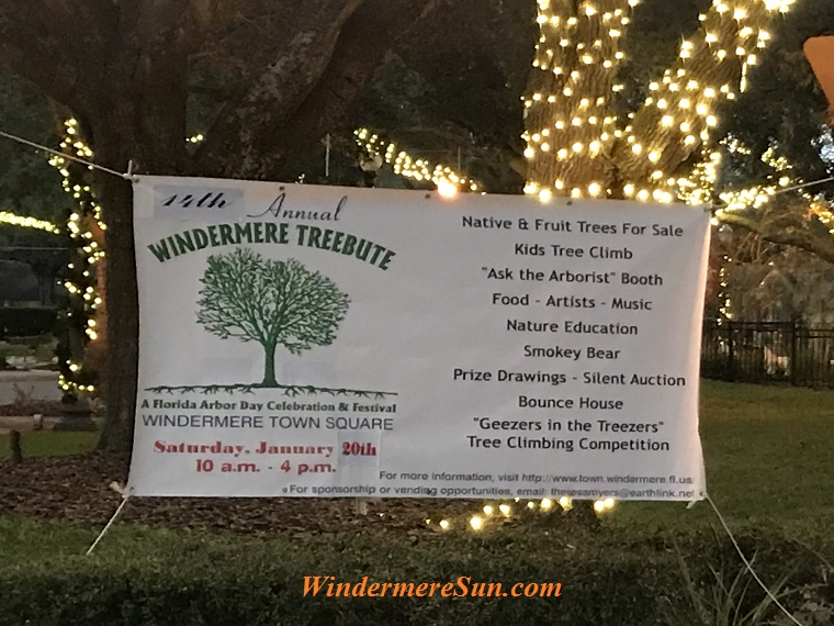 Arbor Day at Windermere sign 2018-b final