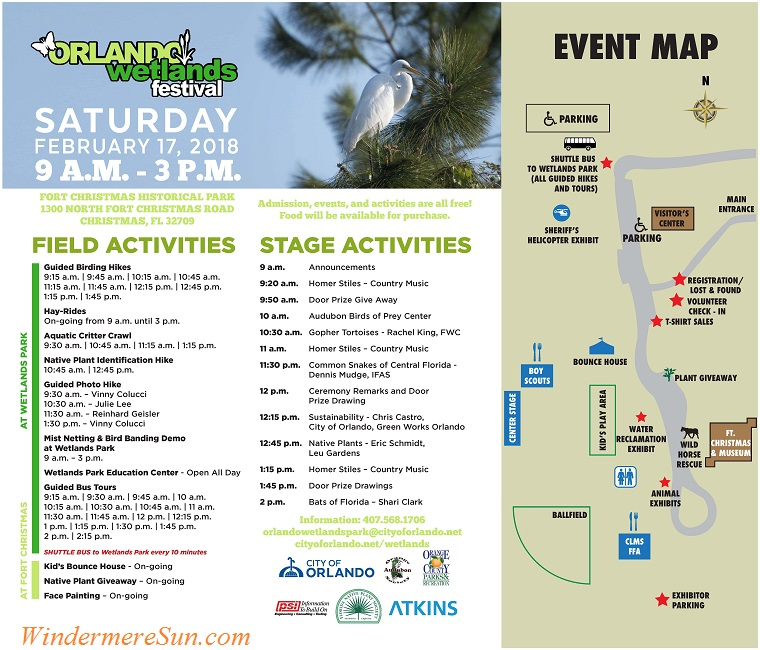 Orlando Wetlands Festival 2018 activities final
