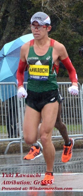 Boston Marathon 2018-Yuki_Kawauchi, near halfway point of Boston Marathon on April 16, 2018,attribution-Gr5555 final