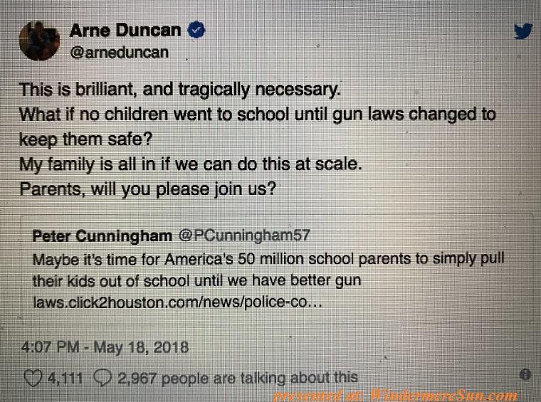 Arne Duncan's tweet final