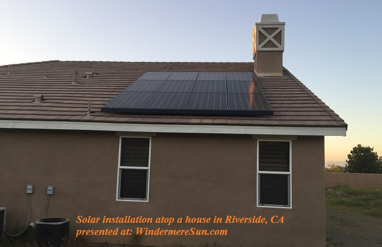 Solar panels atop a house in Riverside, CA final
