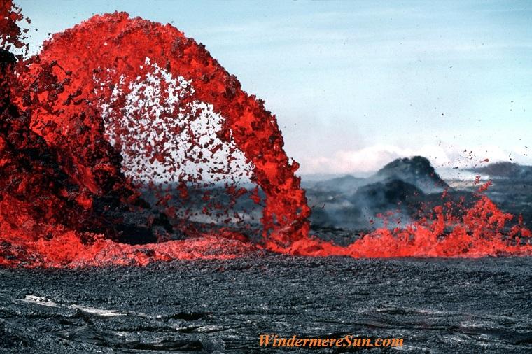 volcanic lava flow, beautiful-color-environment-73830 final