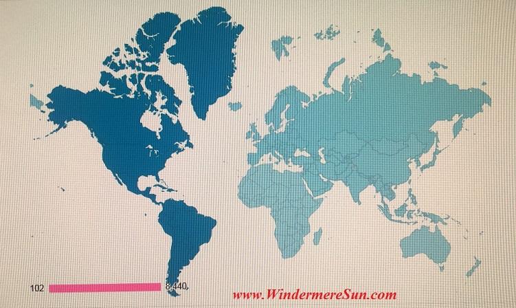 Google Analytics Summary of Visitors to Windermere Sun (www.WindermereSun.com) by end of 2015 (credit: Windermere Sun-Susan Sun Nunamaker)
