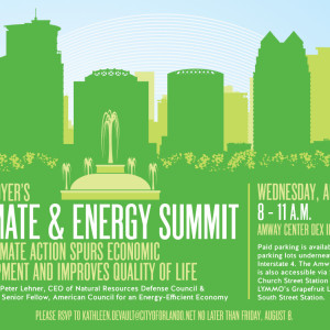 Mayor Dyer's Climate & Energy Summit at Amway Center