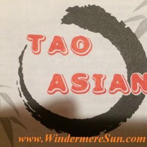 Tao Asian, fusion restaurant (credit: Windermere Sun-Susan Sun Nunamaker)