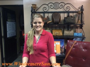 Erin Van Allen (Manager of Tres Chic Designer Boutique at Downtown Windermere, FL) (credit: Windermere Sun-Susan Sun Nunamaker)