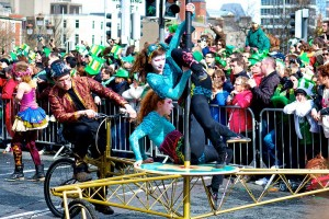 St. Patrick's Day Celebration in Dublin (attribution: Miguel Mendez)