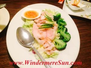 Thai City's shrimp & broccoli
