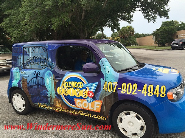 Side of the Vehicle of HollywoodDriveInGolf.com (credit: Windermere Sun-Susan Sun Nunamaker)