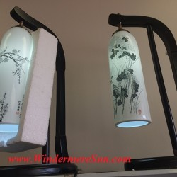 Lamps-Chinese Jingdezhen Fine Ceramics Exhibition Center near First Oriental Supermarket in Orlando, FL- lamp (Attrib: Windermere Sun-Susan Sun Nunamaker)