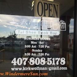 Tai Shen Book Bar open hours (credit: Windermere Sun-Susan Sun Nunamaker)