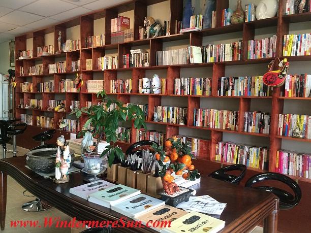 Tai Shen Book Bar books (credit: Windermere Sun-Susan Sun Nunamaker)