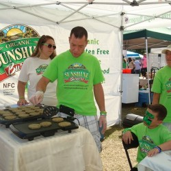 Organic Sunshine Burger from previous Central Florida Veg Fest
