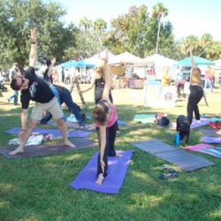 More yoga poses at Central Florida Veg Fest