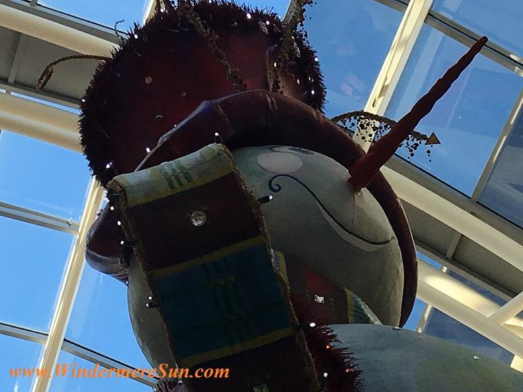 Holiday Snowman at Millenia Mall (credit: WindermereSun-Susan Sun Nunamaker)