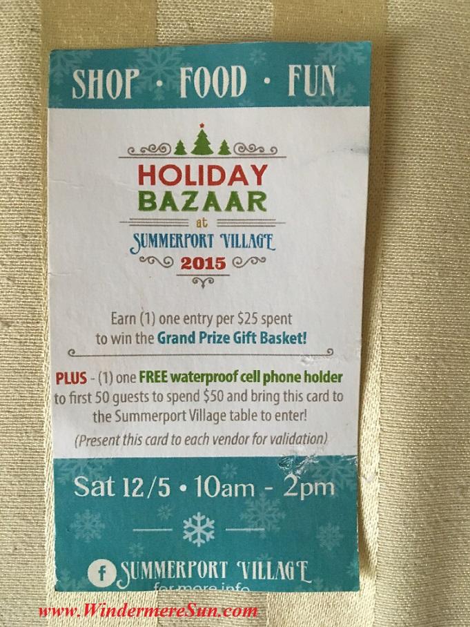 Holiday Bazaar at Summerport Village (credit: Windermere Sun-Susan Sun Nunamaker)