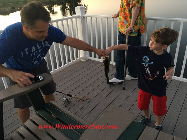 Windermere resident caught a bass with his son (credit: Windermere Sun-Susan Sun Nunamaker)
