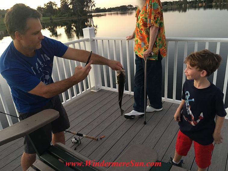 Windermere resident caught a bass with his son (credit: Windermere Sun-Susan Sun Nunamaker)