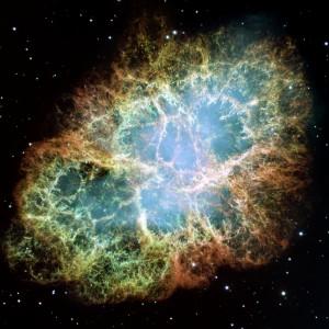 Crab Nebula, an example of a supernova remnant