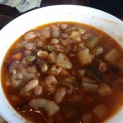 Le Cafe de Paris-minestrone soup w bacon