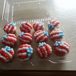 Sonia's July 4th cupcakes