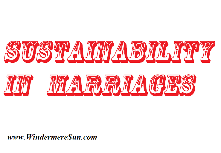 Sustainability In Marriages