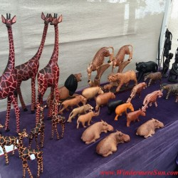 Jonathan Kioko's art work at Winter Garden Farmer's Market (photographed by Windermere Sun-Susan Sun Nunamaker)
