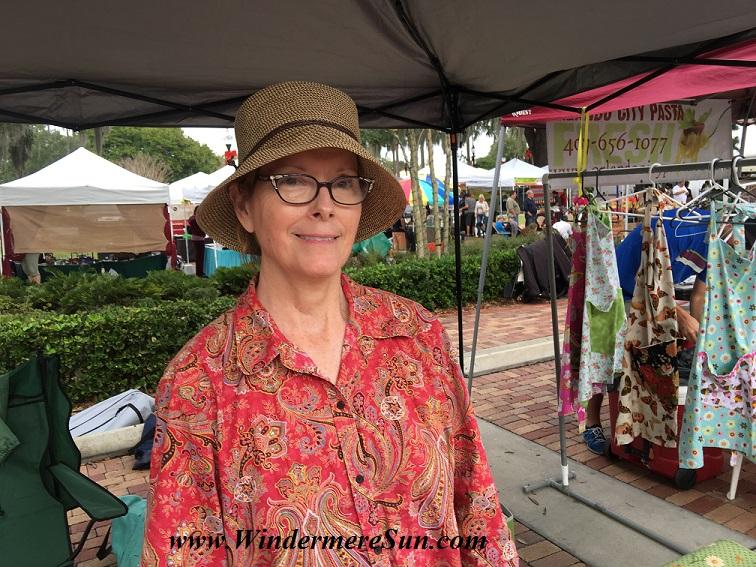 Penny Jordan of Little Penny Creations at Winter Garden Farmer's Market (photographed by Windermere Sun-Susan Sun Nunamaker)