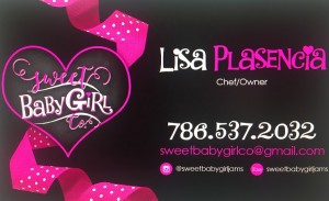 Lisa Plasencia's Sweet Baby Girl Company's business card