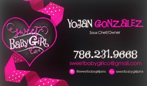 Yojan Gonzalez's Sweet Baby Girl Comapny's business card