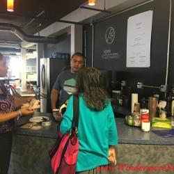 Brazilian talking to Bonnie the Puppet Master at Catalyst (1 S. Orange Ave., Orlando, FL), Shared Workspace (credit: Windermere Sun-Susan Sun Nunamaker)