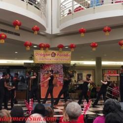African American dancers' celebration of Dragon Parade & Lunar New Year celebration at Fashion Square Mall of Orlando, FL (credit: Windermere Sun-Susan Sun Nunamaker)