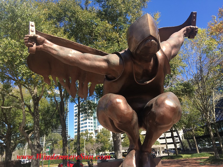 Leaper by Roy Shifrin in front of Orange County Government Building at 201 Rosalind Ave., Orlando, FL (credit: Windermere Sun-Susan Sun Nunamaker )